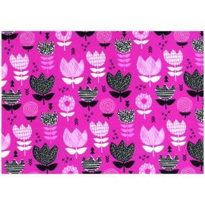 BW-Jersey Blume rosa 95%Bw/5%Elast. 140cm