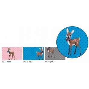 BW-Jersey Bambi Punkte 95%Bw/5%Elast. 140cm