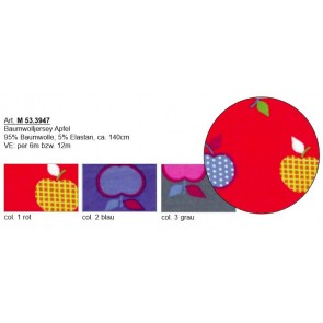BW-Jersey Apfel 95%Bw/5%Elast. 140cm