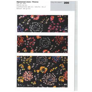 Stoff Trend FJ 21 - Alpensweat Jeans flowers