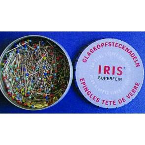 IRIS Glaskopfsteckndl. 0,65mm/30mm(500Stk.)
