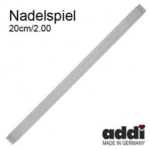 Stricksp. ADDI 20cm, ni.  2,0