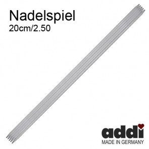 Stricksp. ADDI 20cm, ni.  2,5