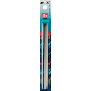 Stricksp. Prym Alu/gr. 15cm/2,0