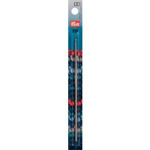 Häkelndl.PRYM grau 15cm/ 2,0  #