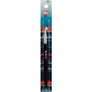 Prym Wollhäkel-ndl Soft-Griff ALU silber 14cm 7,00mm