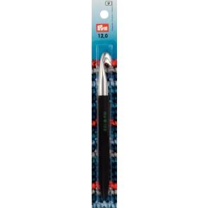 Prym Wollhäkel-ndl Soft-Griff ALU silber 14cm 12,00mm