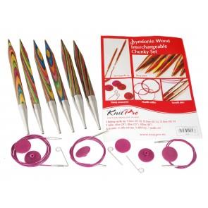 KnitPro Starterset 3 Ndl (9,10,12) + 3 Seile