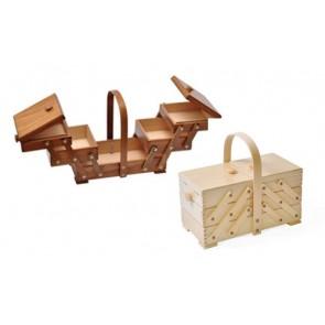 Holz-Nähkasten Buche33x16x28 eck