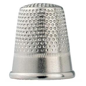 Fingerhut Stahl silberfarbig, 18mm (5/0)
