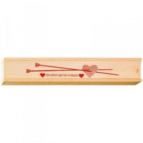 Holzbox für Stricknadeln
