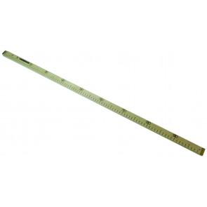 Meterstab Holz,geeicht  25x15