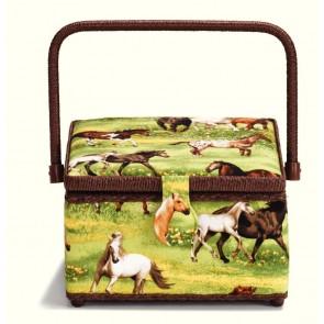 Nähkorb Horses M #