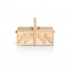 Nähkasten Holz hell S