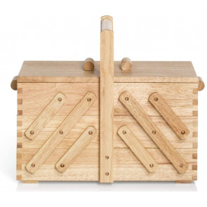 Nähkasten Holz hell M