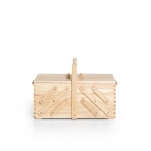 Nähkasten Holz hell L#