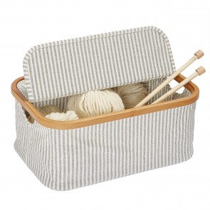 Prym Box Canvas & Bamboo faltbar grau