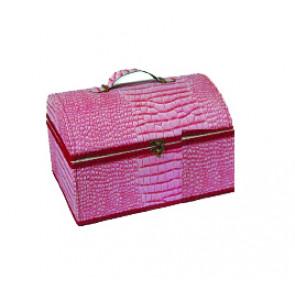 Nähkassette Kunstleder rosa  *