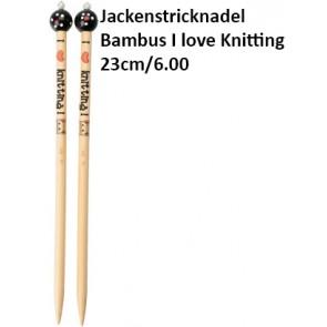 ChiaoGoo Jackenstrickndl. Bambus I love Knitting 23cm/6.00