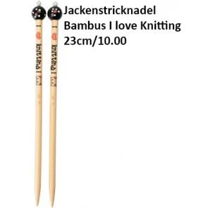 ChiaoGoo Jackenstrickndl. Bambus I love Knitting 23cm/10.00