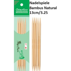 ChiaoGoo Nadelspiele Bambus Natural 13cm/3.25