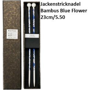 ChiaoGoo Jackenstrickndl. Bambus Blue Flower 23cm/5.50