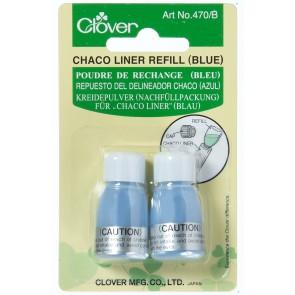 """CLOVER Kreidepulver Nachfüllpack. """"Chaco Liner"""" blau"""