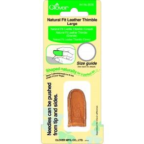CLOVER Lederfingerhut natürliche Passform groß