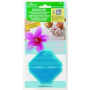 CLOVER Kanzashi-Blumen-Schablone spitze Blüte/gr. Größe