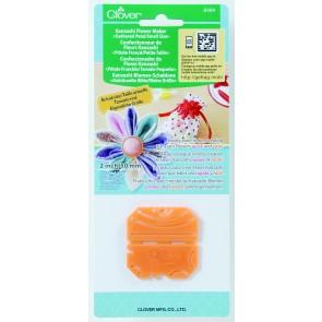 CLOVER Kanzashi-Blumen-Schablone gekr. Blüte/kl. Größe