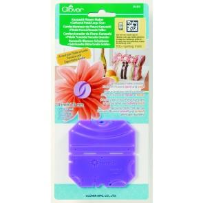 CLOVER Kanzashi-Blumen-Schablone gekr. Blüte/gr. Größe