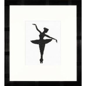 LAN. Zählmusterpackung Ballett-Silhouette I 11,5x14,5cm