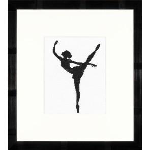 LAN. Zählmusterpackung Ballett-Silhouette II 11,5x14,5cm