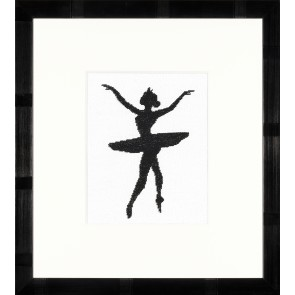LAN. Zählmusterpackung Ballett-Silhouette III 11,5x14,5cm