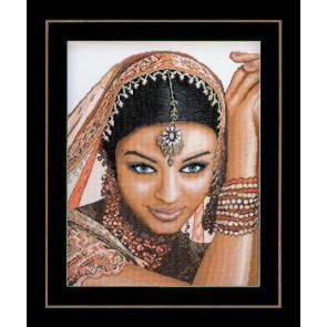 LAN. Zählmusterpackung Indische Frau 39x49cm