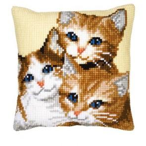 VER Kreuzstichkissenpackung 3 Kätzchen