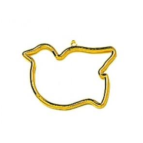 VER Kunststoffrahmen Gold Vogel (p.1St)