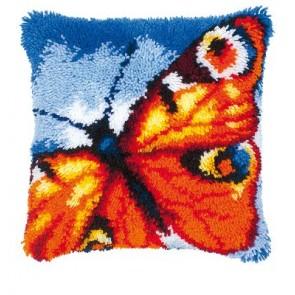VER Knüpfkissenpackung Orange Schmetterling