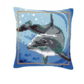 VER Kreuzstichkissenpackung Delfin