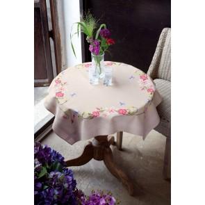 VER Bedruckte Deckepackung Rosa Blumen Schmetterlingen
