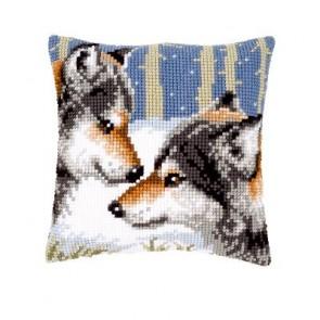 VER Kreuzstichkissenpackung 2 Wölfe