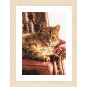 LAN. Zählmusterpackung faule Katze 24x34cm