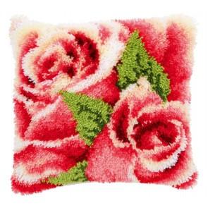 VER Knüpfkissenpackung Rosenblüte