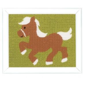 VERVACO Stickbild - 16 x 12,5 cm - Pony