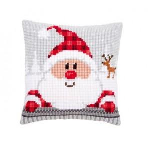 VER Kreuzstichkissenpackung Nikolaus mit Mütze