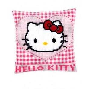 VER Kreuzstichkissen Hello Kitty in einem Herz