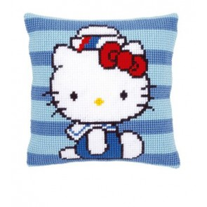 VER Kreuzstichkissen Hello Kitty bei der Marine I