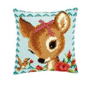 VER Kreuzstichkissen Bambi mit Schleife