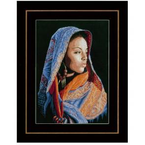 LAN. Zählmusterpackung Afrikanische Frau 32x48cm