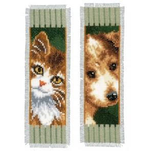 VER Lesezeichen Katze und Hund Aida 2er Set